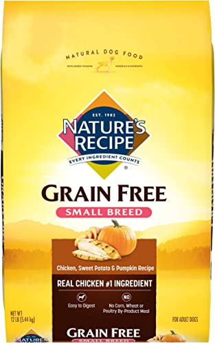 Nature's Recipe Grain Free Small Breed Dry Dog Food, Chicken, Sweet Potato Pumpkin