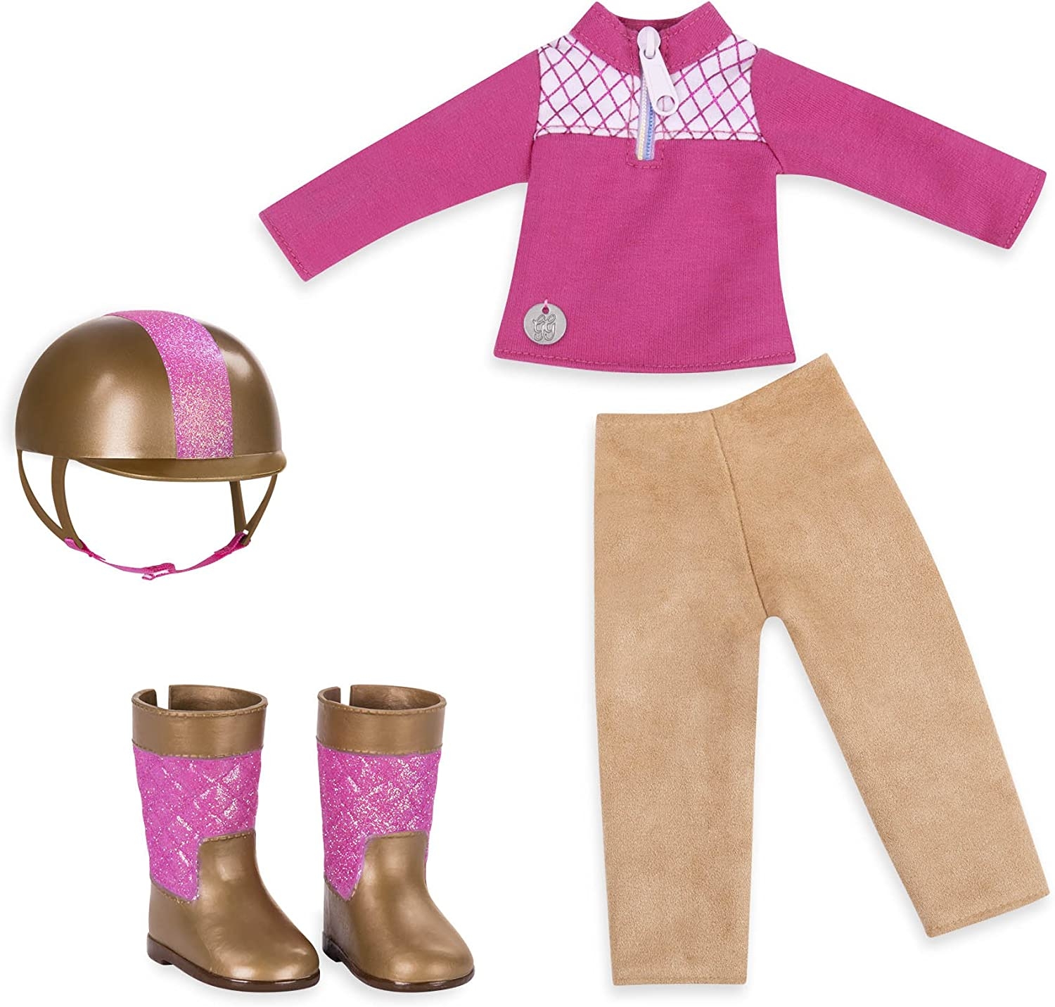 """Glitter Girls by Battat - Ride & Shine Deluxe Equestrian Outfit - 14"""" Doll Clothes & Accessories For Girls Age 3 & Up - Childrens Toys"""