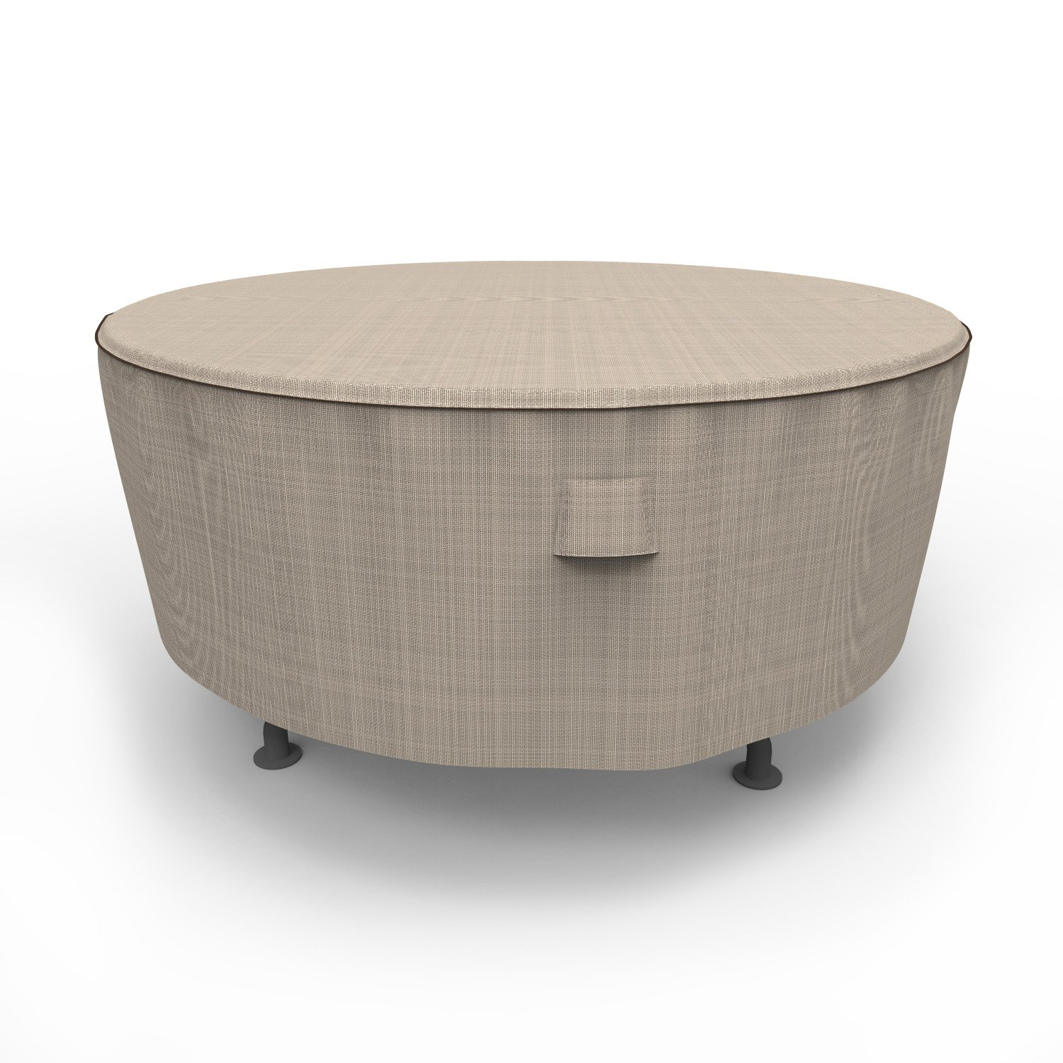 Budge P5A23PMNW2 NeverWet Mojave Round Patio Table Cover, Large, Black Ivory
