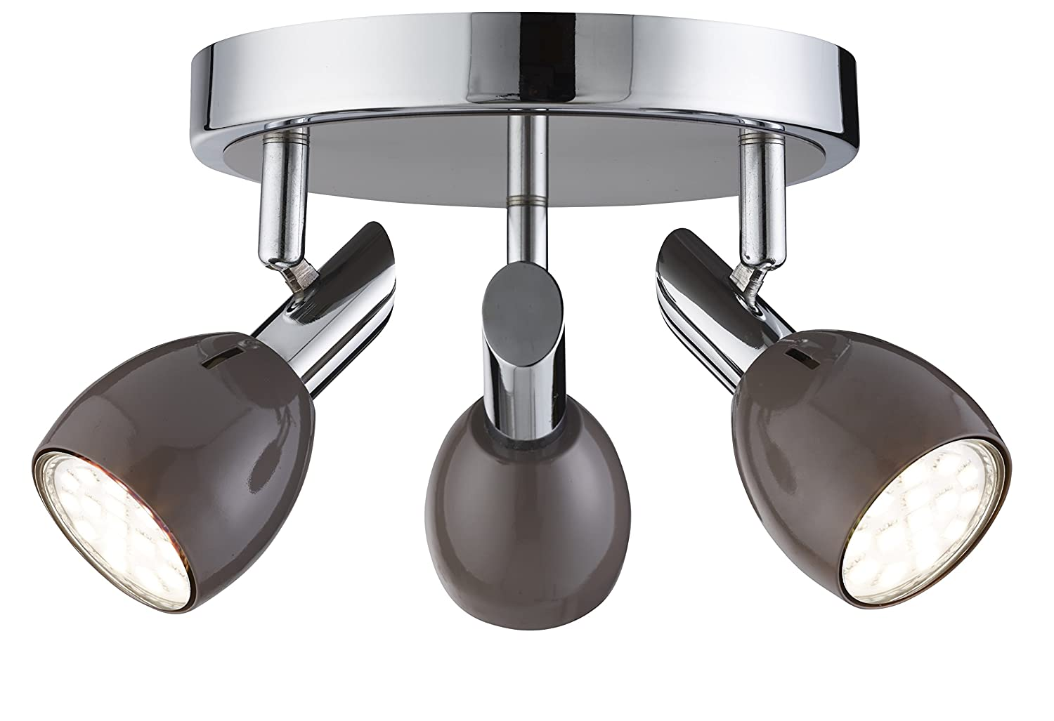 Lighting Collection 700190 GU10 35 W Spot Light wih 3 Lights and without Bulb, Chrome