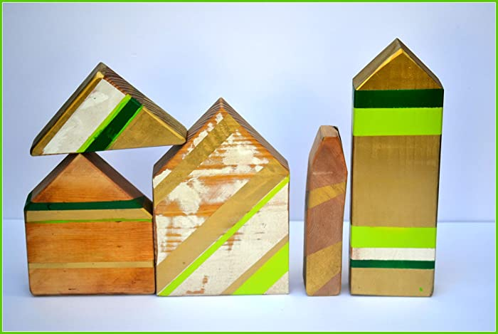 Christmas Village Houses.Amazon Com Little Wooden Houses Primitive Christmas