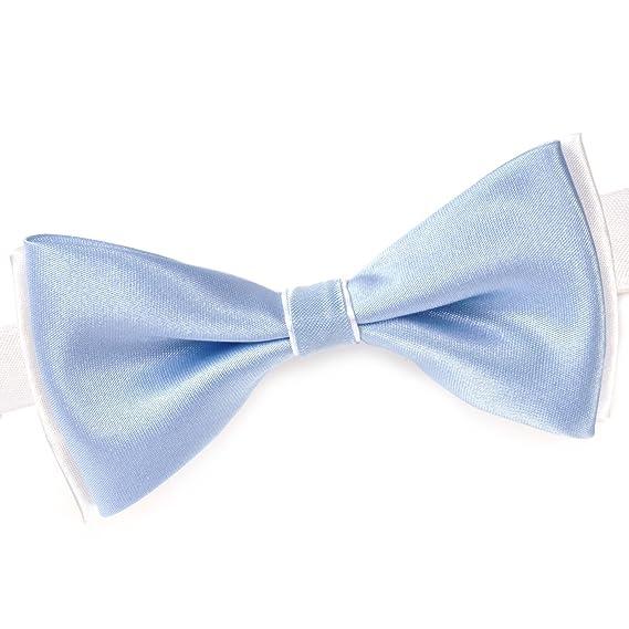 50027acd21714 Dandytouch Noeud papillon BeCool Bleu Ciel sur Blanc - Fabriqué en europe