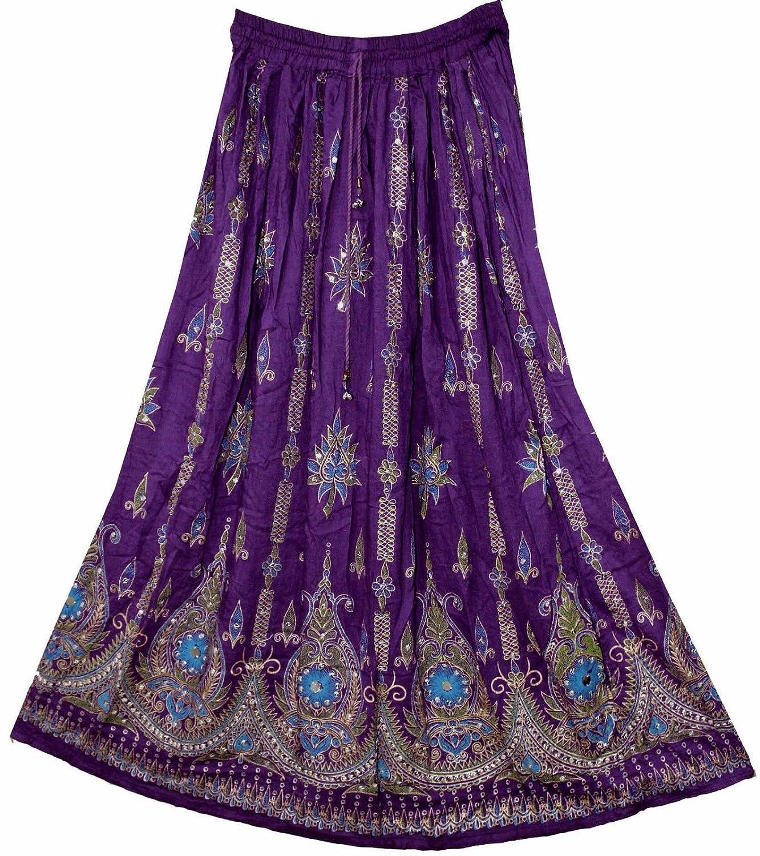 Señoras imponentes Indian Boho Hippie Gypsy Sequin Summer Sundress ...