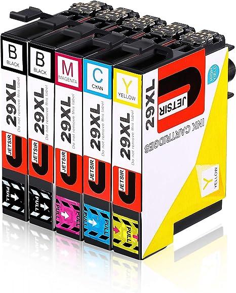 JETSIR 29XL Reemplazo para Epson 29, Alta Capacidad Cartuchos de ...