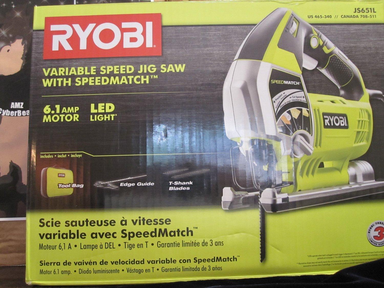 Ryobi js651l1 61 amp variable speed orbital jigsaw with speed match ryobi js651l1 61 amp variable speed orbital jigsaw with speed match power jig saws amazon greentooth Gallery