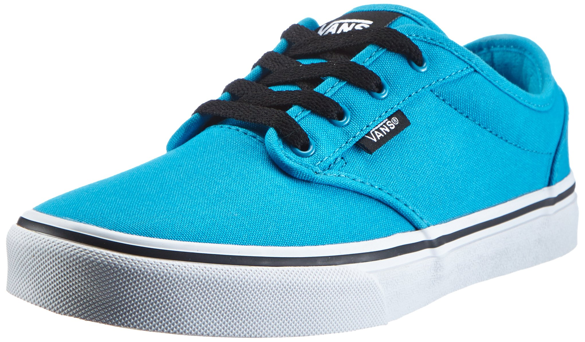 Vans Boy's Atwood (Canvas) Hawaiian Ocean/White Skateboarding Shoes (Kids US 11)