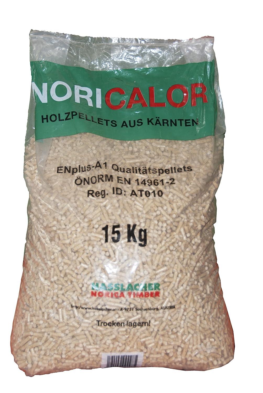 Pellet NORICALOR di 100% abete sacchi da 15 kg certificato EN-PLUS ...