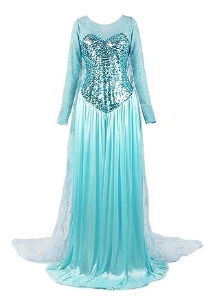 ReliBeauty Womenu0027s Princess Elsa Fancy Dress Costume X-Small Light Blue  sc 1 st  Amazon UK & ReliBeauty Womenu0027s Princess Elsa Fancy Dress Costume: Amazon.co.uk ...