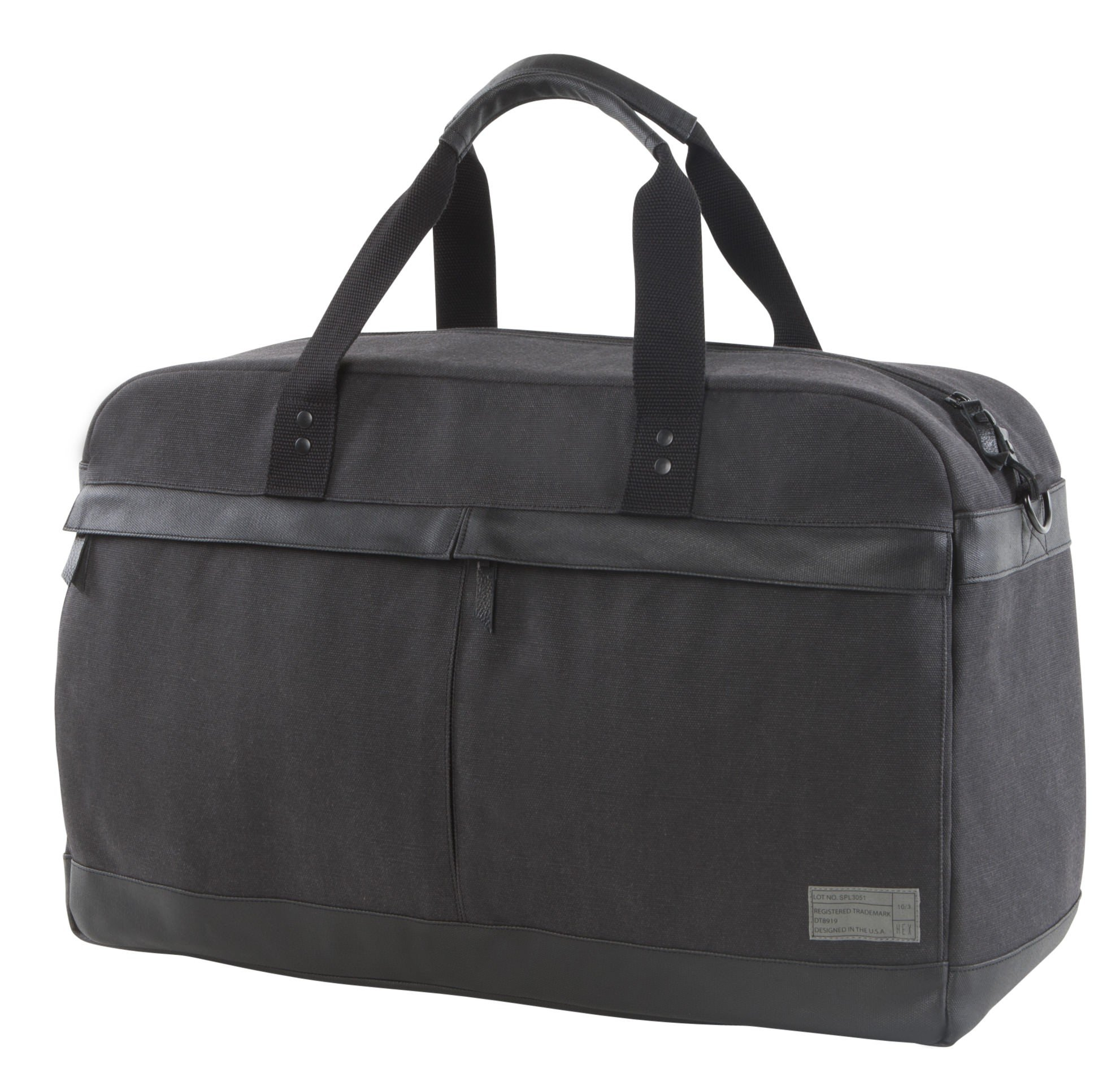 HEX Unisex Weekender Supply Charcoal Duffel Bag