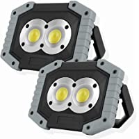OTYTY COB 30W 1500LM LED Work Light 2 Pack, Rechargeable Portable Waterproof LED Flood Lights Outdoor Camping Hiking…