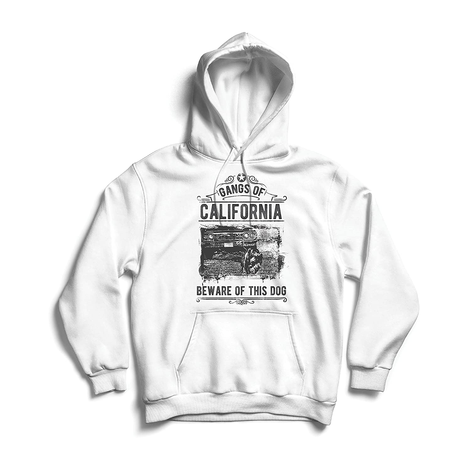 Amazon.com: lepni.me Hoodie The Gangs of California - Beware of This Dog! Street Gangster Clothing - Money, Power, Respect!: Clothing