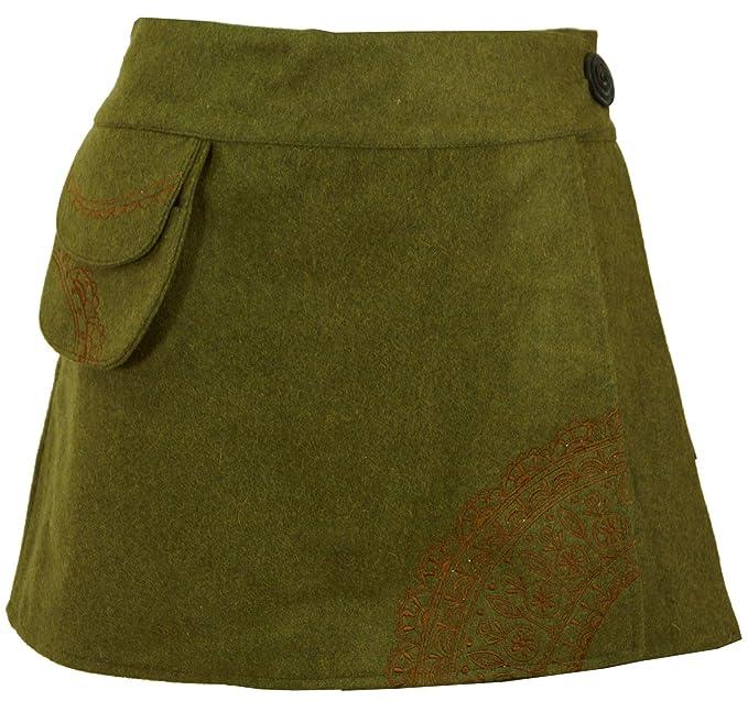 Guru-Shop, Goa Falda del Abrigo, de Lana Bordada Cacheur Sentía, Fajas y Adulador de la Cadera: Amazon.es: Ropa y accesorios