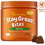 Zesty Paws Stay Green Bites for Dogs - Grass Burn Soft Chews for Lawn Spots Caused by Dog Urine - Cran-Max Cranberry for Urinary Tract & Bladder - with Apple Cider Vinegar + Digestive Enzymes - 90 Ct