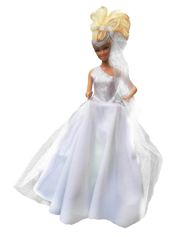 Puppenkleid passend für Barbie Steffi Brautkleid DIY Nähset ...