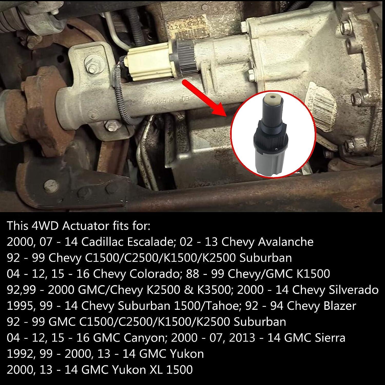 Part# 26060073 4WD Actuator 4-Wheel Drive Front Axle Differential Actuator For Cadillac Escalade Chevy Avalanche Blazer Silverado GMC Canyon Sierra Yukon 600-101