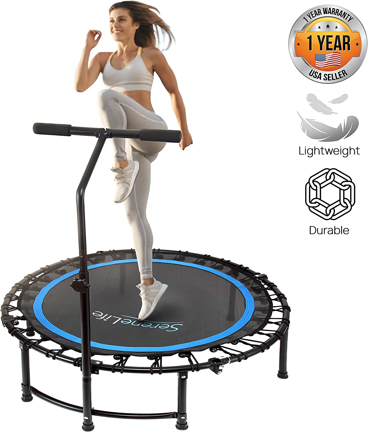"SereneLife 36"" Inch Portable Fitness Trampoline"