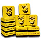 12 Magnetic Whiteboard Erasers | Mini Eraser for School Office Home and Classrooms