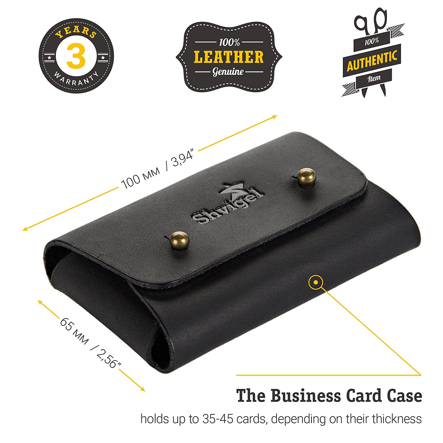 Amazon.com : Shvigel Business Card Holder Leather - Visiting Card ...