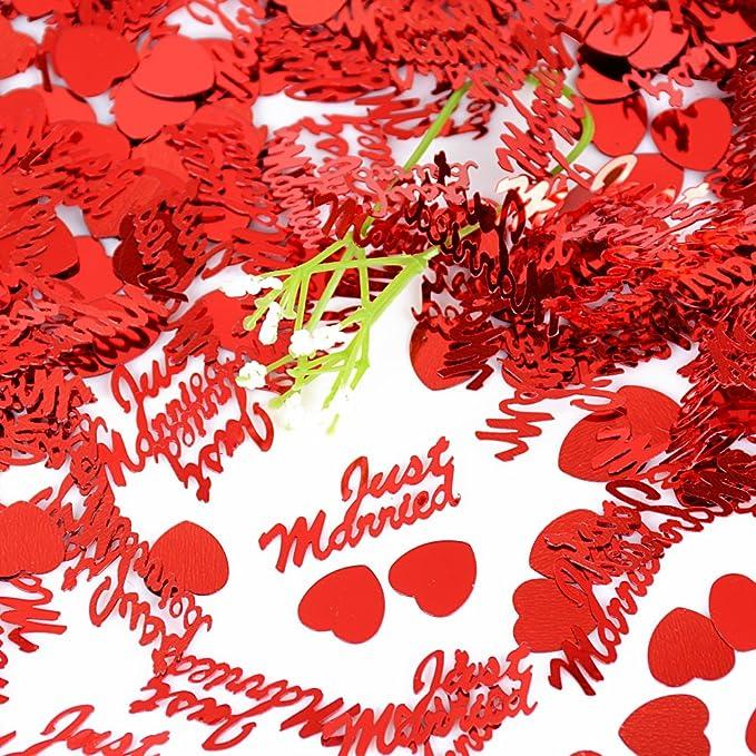 2 opinioni per 60g Mini Coriandoli Confetti Just Married Cuore Rosso Decorazione Tavolo