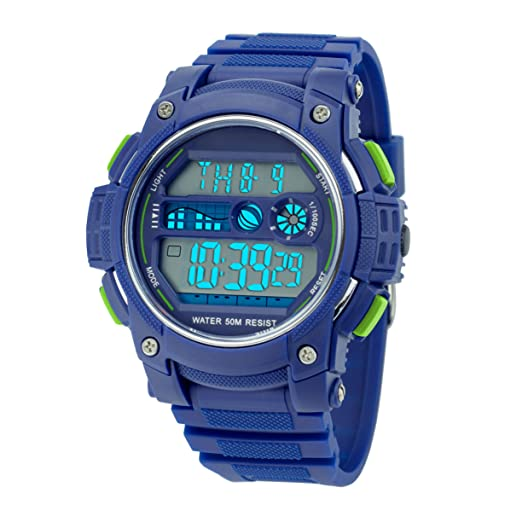 cbac23773 Amazon.com: Misskt Mens Military Sport Watch Fashion Men Watch LED Display  Water Resistant Blue: Watches