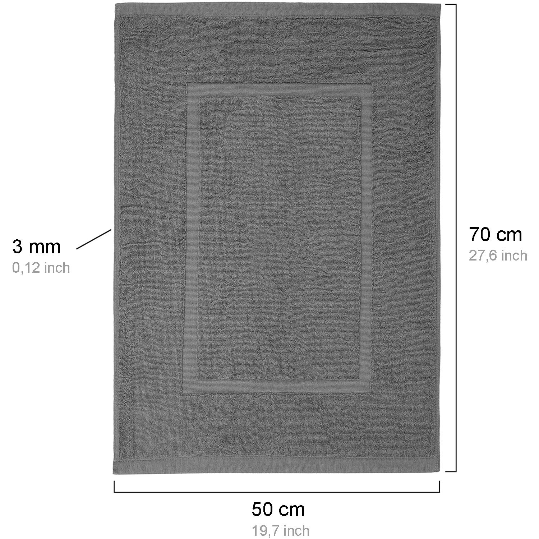 50 x 70cm 650 g//m/² Alfombra de ba/ño Alfombrilla de ba/ño valneo Alfombra de ba/ño en Antracita Gris tama/ño