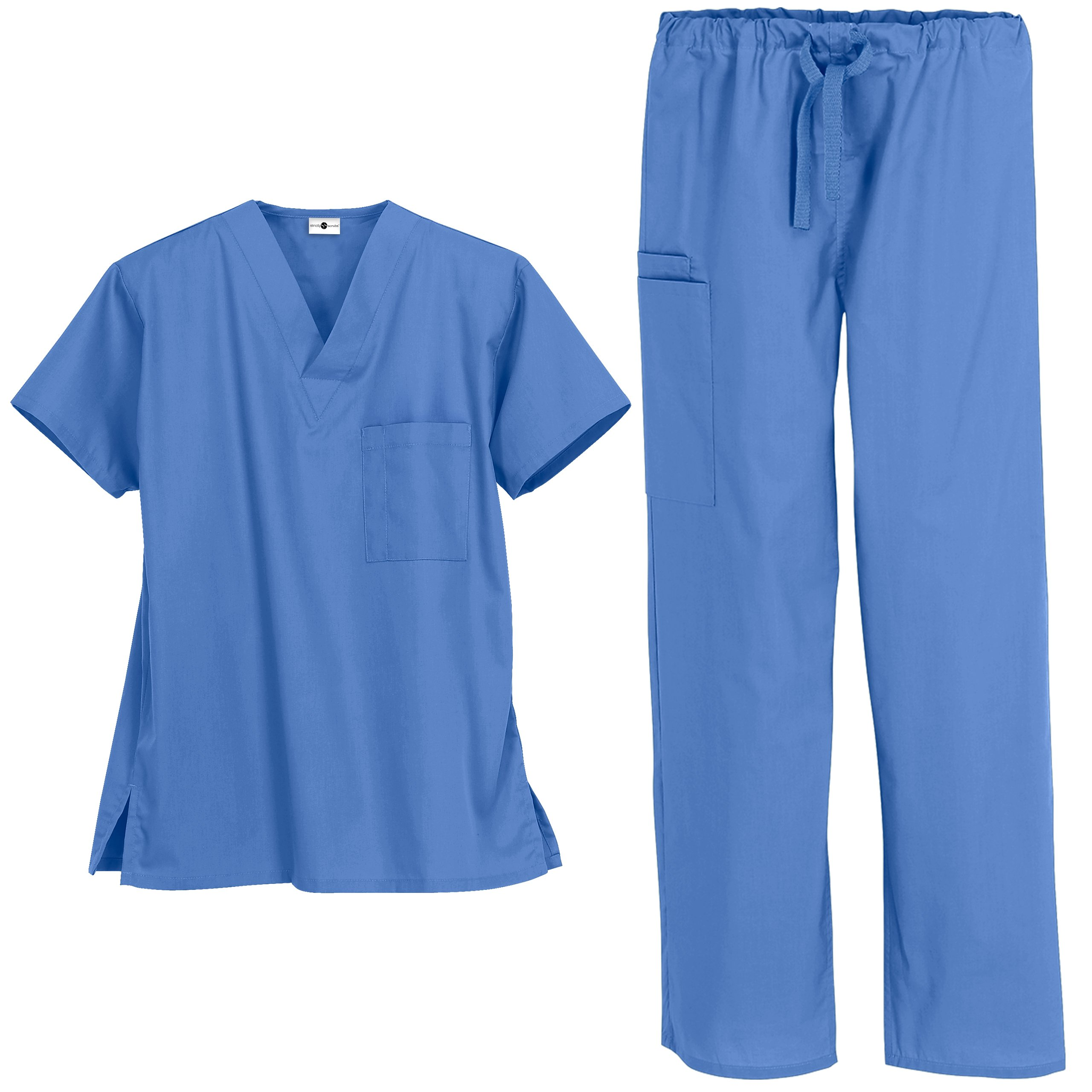 Strictly Scrubs Unisex Medical Uniform Set (Medium, Ceil)