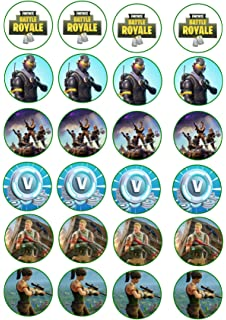 Print4you 24 decoraciones para tartas de 4 cm con imágenes de cupcakes – Fortnite Fortnight