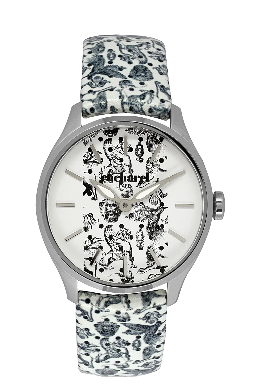 Cacharel Damen-Armbanduhr Analog Quarz Leder CLD 002-BB