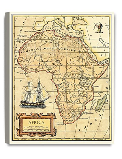 Ancient Map Of Africa Amazon.com: DECORARTS  Africa map Wall Art. Ancient Map Giclee