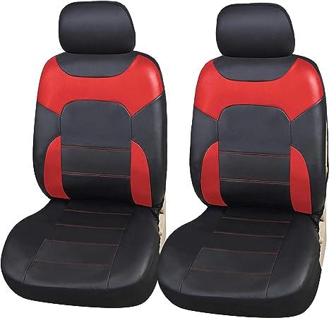 PAIR OF SINGLE WATERPROOF PROTECTORS CAR VAN SEAT COVERS BLACK UNIVERSAL FIT