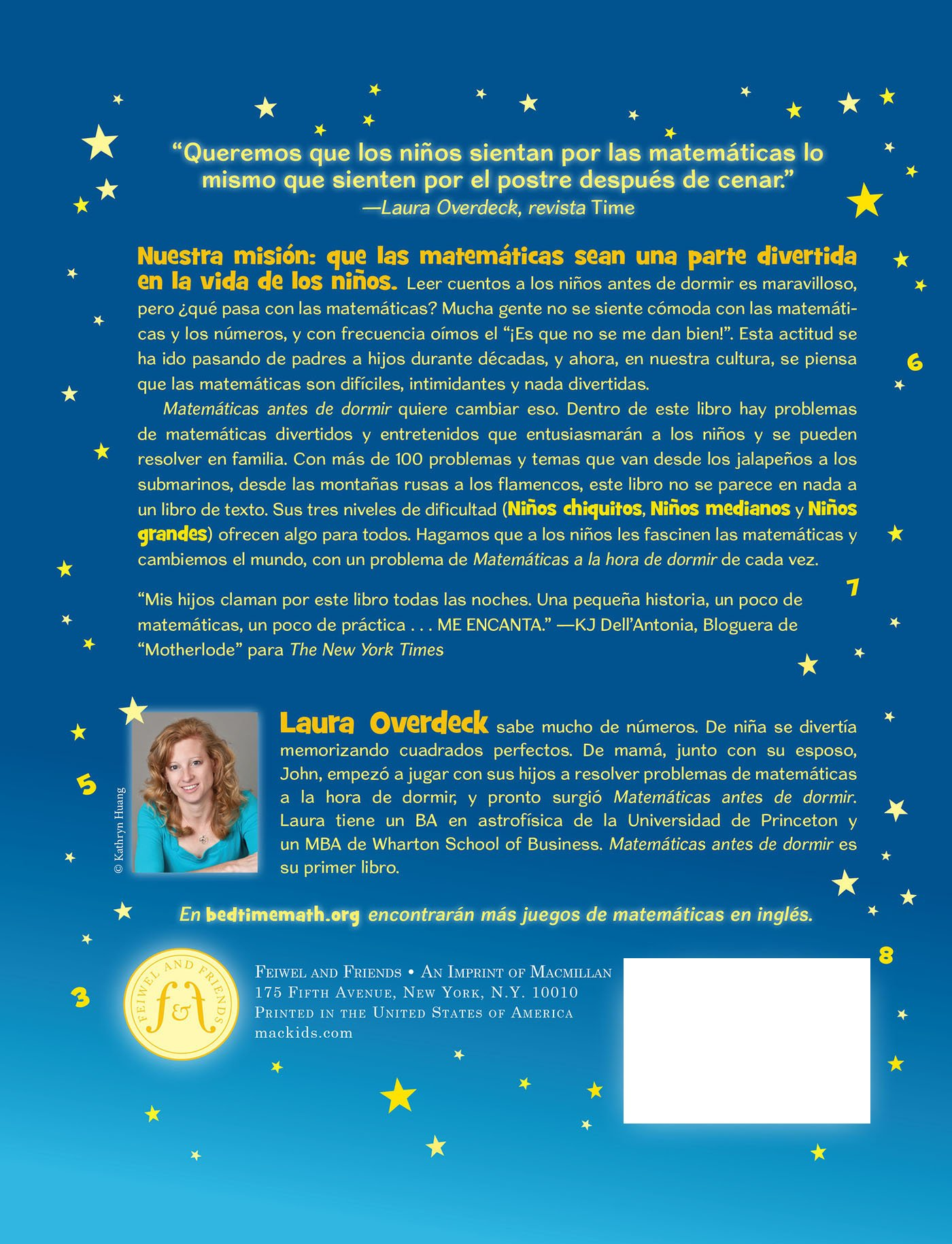 Matematicas Antes de Dormir (Bedtime Math) (Spanish Edition)