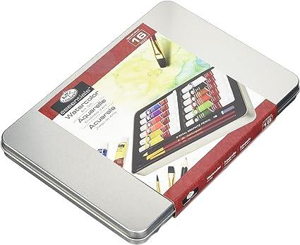 Royal & Langnickel - Estuche para pintar con acuarelas (estuche metálico): Amazon.es: Oficina y papelería
