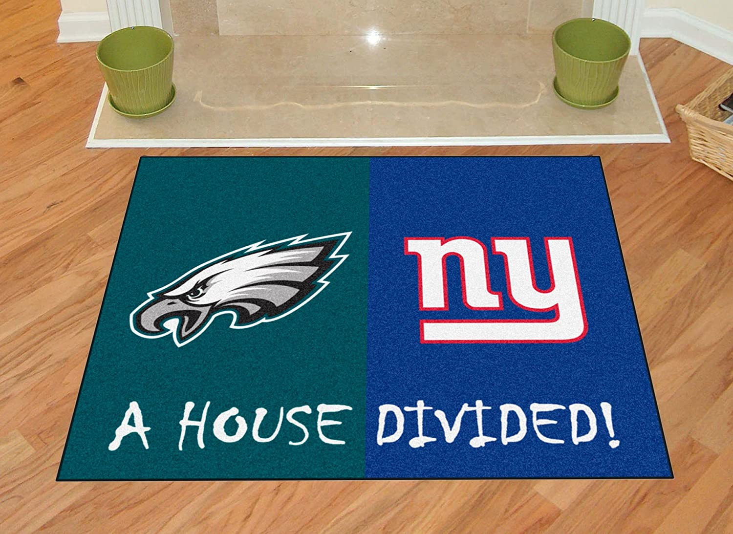 amazon com fanmats nfl house divided nylon face house divided rug