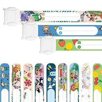 NEU Faburo 10x Kinder Sicherheits Armband,Notfallarmband,Sicherheitsarmband
