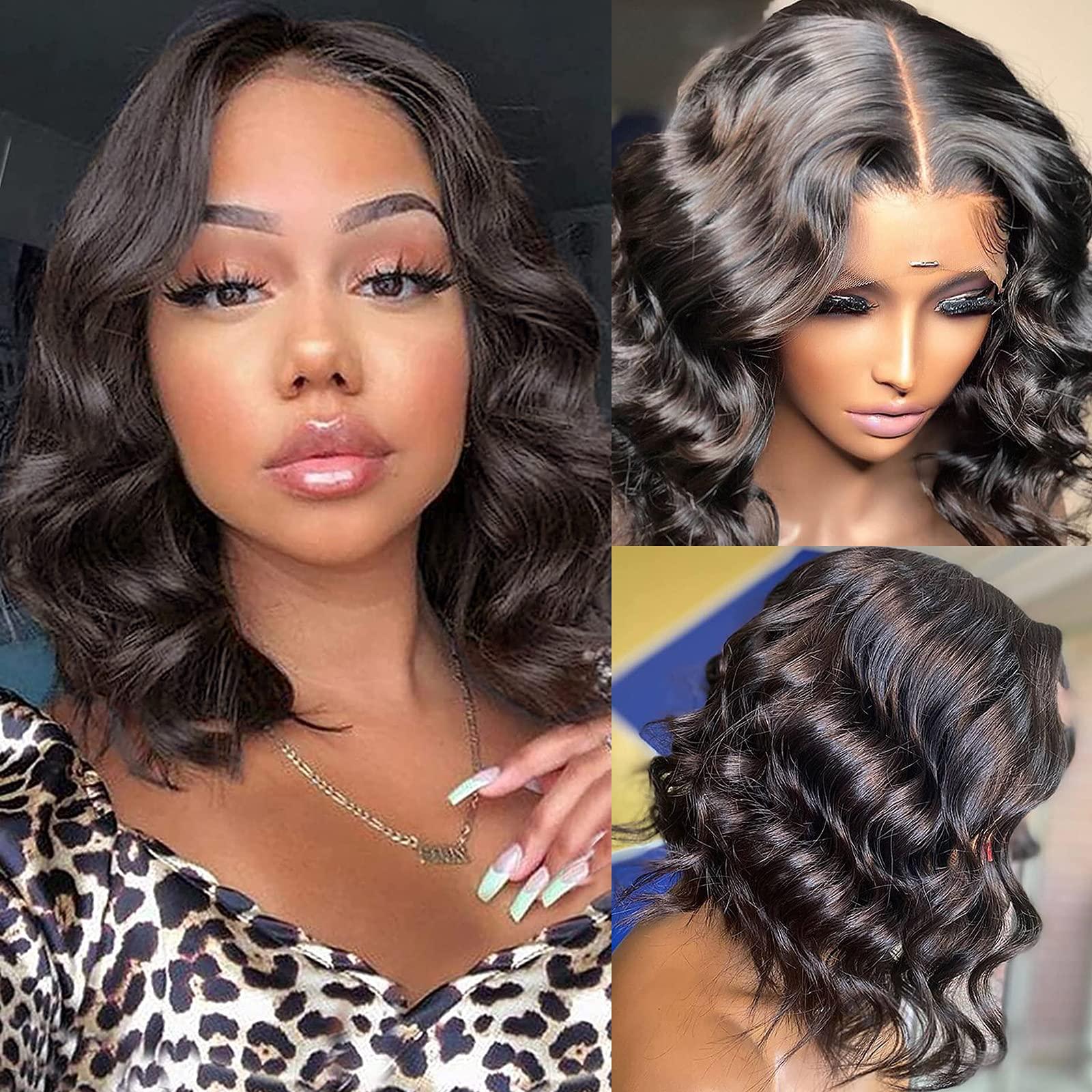 B-fashion Bob Wigs Human Hair – Body Wave Lace Front Wigs Human