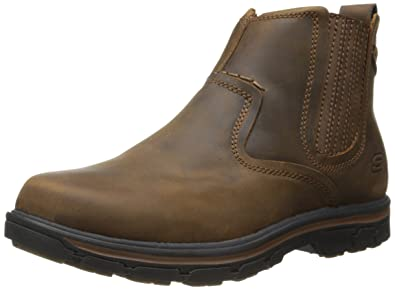 Skechers USA Men's Segment-Dorton Chukka Boot,Dark Brown,6.5 ...