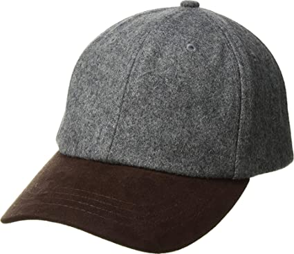 efca751ca06 San Diego Hat Company Men s CTH1502 Wool Crown and Faux Suede Brim Baseball  Cap Grey One Size at Amazon Men s Clothing store