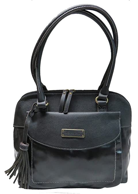 Tignanello Purse Handbag Buckle Down Leather Shopper Black By Tignanello Co. c73476ba4a38e