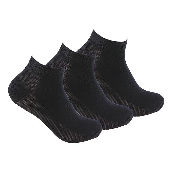 Calcetines DEPORTE (3 pares) tobilleros y transpirables. Con tejido perforado que permite mantener