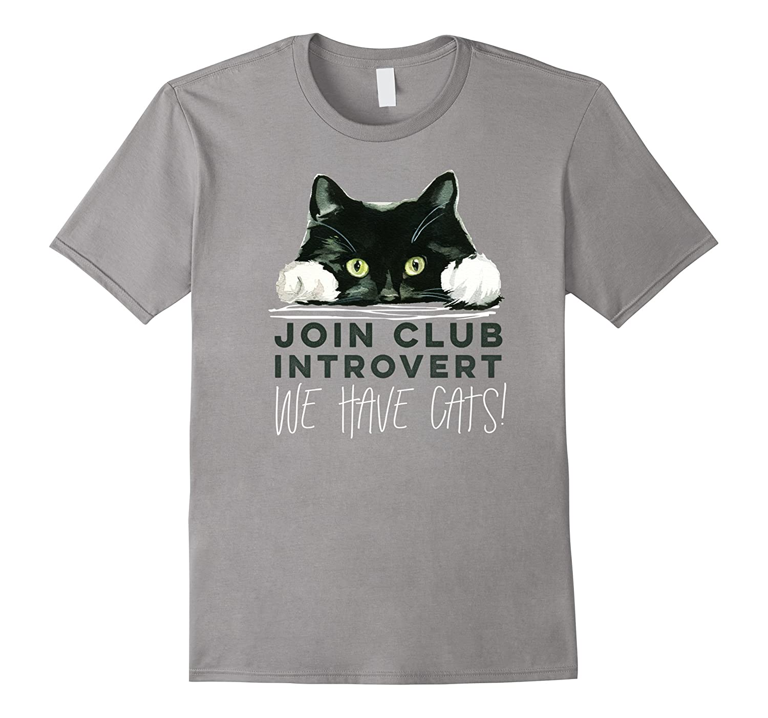 8be3b5d1 Club Introvert, We Have Cats T-shirt-ANZ