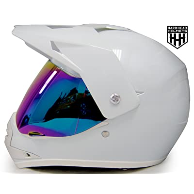 SmartDealsNow - HHH DOT Youth & Kids Helmet for Dirtbike ATV Motocross MX Offroad Motorcyle Street bike Snowmobile Helmet with VISOR: Automotive