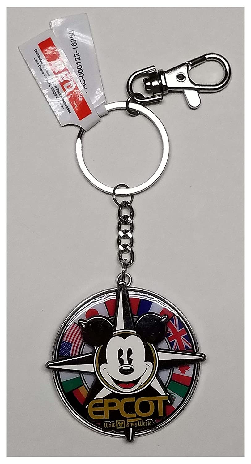 Disney Parks Keychain - Epcot - Mickey Flags Spinner