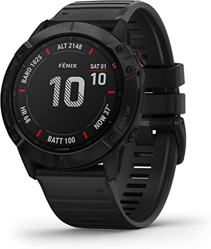 Garmin Fenix 6X Sapphire, Premium Multisport GPS Watch, features Mapping, Music, Grade-Adjusted Pace Guidance and Pulse Ox Sensors, Dark Gray with ...
