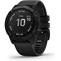 $699 » Garmin Fenix 6X Sapphire, Premium Multisport GPS Watch, features Mapping, Music, Grade-Adjusted…
