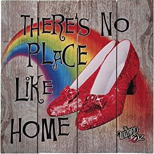 Spoontiques No Place Like Home Wood Sign, Gray
