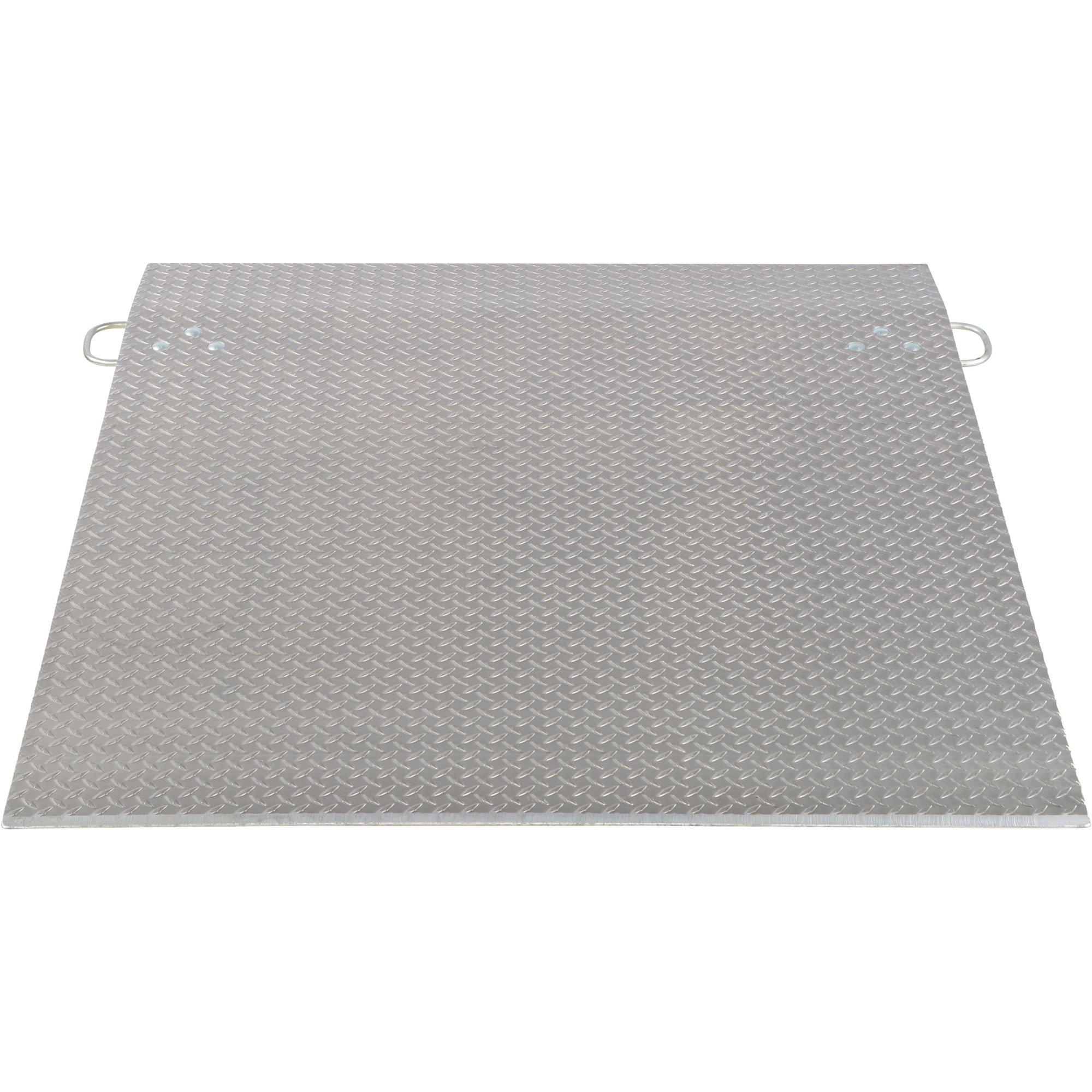 Vestil Economizer Dockplate - Aluminum, 5,700-lb. Capacity, 24in.L x 60in.W, Model# E-6024