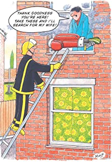 GOLF CLUBS FIRE RESCUE FUNNY HUMOUROUS BIRTHDAY CARD THE