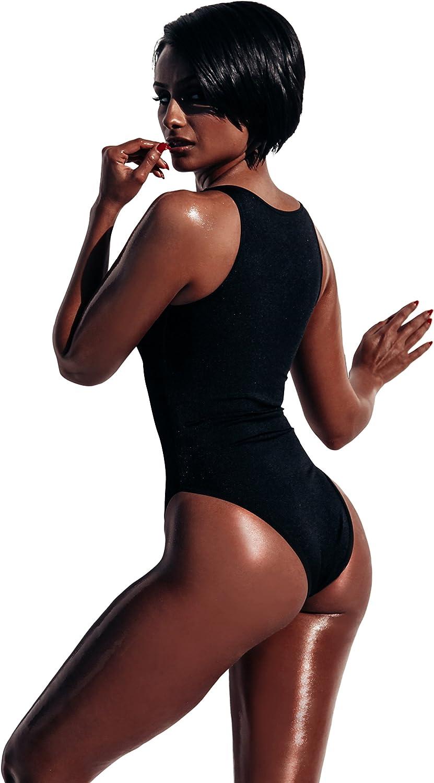 Chynnadolls Womens Naz Zip Front One Piece Swimsuit