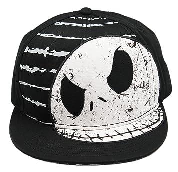 6089efeed16 Disney Black Nightmare Before Christmas Jack Skellington Snapback Hat   Amazon.co.uk  Sports   Outdoors