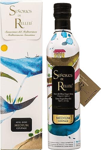 Señorios De Relleu Aceite De Oliva Virgen Extra Coupage MEDIUM 500 ml con ESTUCHE de REGALO.: Amazon.es: Alimentación y bebidas